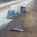 A semi crashed following rain Thursday on U.S. 34 Near Galesburg.  Photo submitted by Susan Schneider.