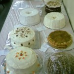 (Cakes and pies are among the items auctioned off at the annual Abingdon Community Festival.  2009 WGIL News File Photo.)